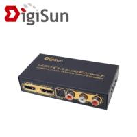 【DigiSun 得揚】AH211U 4K HDMI 2.0 轉HDMI+AUDIO音訊擷取器 SPDIF+R/L+Coaxial