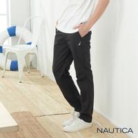 【NAUTICA】百搭涼感鬆緊長褲(黑)