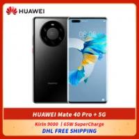 DHL ฟรี HUAWEI Mate 40 Pro + 5G สมาร์ทโฟน6.76 ''Kirin 9000 Octa Core 5nm หัตถกรรมบลูทูธ5.2 65W HUAWEI SuperCharge