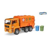 【Fun心玩】RU2760 麗嬰 德國製造 BRUDER 1:16 橘色垃圾車 環保車 仿真高質感 兒童 大型 汽車 玩具