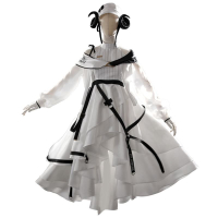 【現貨  cos服】 明日方舟cosplay夜鶯cos服裝醫療幹員遊戲cosply全套衣服道具假髮