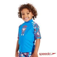 【SPEEDO】兒童休閒短袖防曬衣Fusion Fun(藍海盜-不含短褲)
