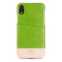 【alto】iPhone XR 6.1吋皮革保護殼 Metro - 萊姆綠/本色(iPhone 保護殼)