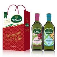 【Olitalia奧利塔】葡萄籽油+玄米油禮盒組(1000mlx2瓶)
