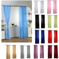 โมเดิร์นม่านบังแดดสำหรับห้องนั่งเล่นห้องนอนผ้าม่านสำเร็จรูปผ้าม่านสีทึบผ้าม่าน