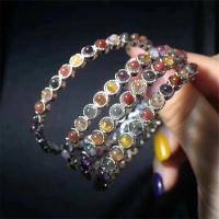 天然極光23鈦晶雙拼水晶手鐲招財轉運辟邪手鏈時尚禮物寶石飾品
