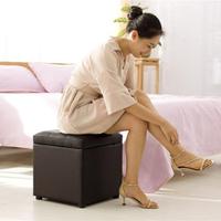 收納椅實木服裝店長方形沙發換鞋凳鞋櫃床尾儲物凳收納椅 【簡約家】