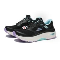 【滿千折百優惠開跑】SKECHERS 慢跑鞋 GORUN MAX CUSHIONING ARCH FIT 黑水藍紫 足弓支撐 休閒 女(布魯克林) 128301BKAQ