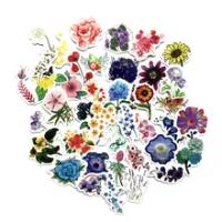 การ์ตูน Mini Elegant ดอกไม้สติ๊กเกอร์ Graffiti กระเป๋าเดินทางกีตาร์สาวรถสำหรับของเล่นเด็กสติกเกอร์รูป...