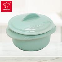 【中秋限時↘MULTEE 摩堤】10cm迷你陶瓷鍋 / 台灣鶯歌製品(淺綠松)