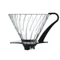 金時代書香咖啡 HARIO V60 黑色 03 玻璃濾杯1-6杯 VDG-03B