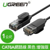 現貨Water3F綠聯 1M CAT6A網路線 黑色 增強版