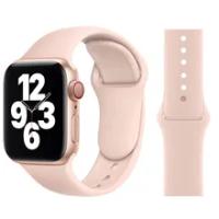 สายซิลิโคนสำหรับ Apple Watch Band 6 44มม.42มม.40มม.38มม.สายนาฬิกาสร้อยข้อมือ IWatch สำหรับ Series 6 SE 5 4 3 2 Se