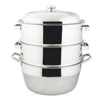 萬得威304不鏽鋼蒸籠組湯鍋40cm二入蒸盤