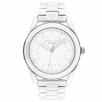 【COACH】優雅LOGO陶瓷時尚腕錶38mm(14503771)