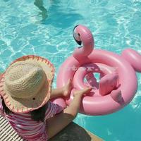 兒童泳圈-小火焰鳥游泳圈 火焰鳥/紅鶴鳥造型泳圈 夏季泳圈救生圈