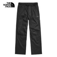 【The North Face】The North Face北面女款黑色防風防潑水休閒長褲 49E3JK3