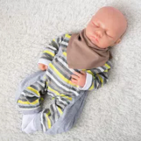 18 ''Full Body Silikon Reborn Bayi Gadis Boneka Mata Tertutup Tidur Bayi Balita Mainan Anak Laki-laki