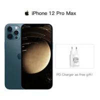 """ปลดล็อก iPhone 12 Pro Max 5G สมาร์ทโฟน6.7 """"XDR จอแสดงผล A14ชิป12MP Triple ด้านหลังกล้อง IOS 14โทรศัพท์มือถือกันน้ำ"""