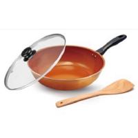 瑞士MONCROSS陶瓷不沾炒鍋三件組 不沾鍋 銅色