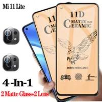 Matte Film Mi 11 Lite Ceramic Glass For Xiaomi 11 Lite Screen Protectors Mi 11Lite Protective Film Mi11Lite Soft Protection Xiomi Mi 11 Light Curved Tempered Glass Mi 11Lite