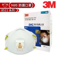 3M N95 粒狀物防護口罩 8511系列, 盒裝版,(專業版頭帶式) 【傑群工業補給站】