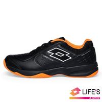 【LOTTO】男 SPACE 600 網球鞋(黑橘-LT0AMT2230)
