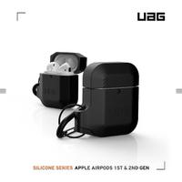 【UAG】AirPods 耐衝擊防水防塵保護殼-極黑(UAG)