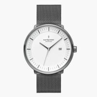 刷卡滿3千回饋5%點數|Nordgreen Philosopher哲學家 深空灰系列米蘭帶腕錶40mm(PH40GMMEGUXX)