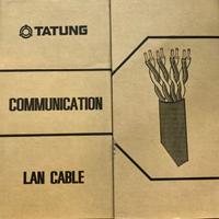 TATUNG大同 CAT.5/6e UTP高磅數銅灰色305米網路線 24AWG 台灣製造 送10顆護套網路頭