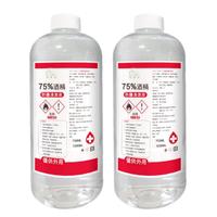 【HAPPY HOUSE】75%酒精防護清潔液1000ML_透明瓶-2瓶(補充瓶)