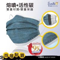 丹寧金剛四層活性碳成人口罩50入 活性碳 口罩防塵(非醫療),四層產品結構,防護再升級