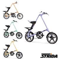 【STRiDA】英國速立達 LT特仕版16吋單速碟剎/皮帶傳動/折疊後可推行/三角形單車-粉彩色系