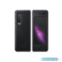 【SAMSUNG 三星】原廠Galaxy Fold F900專用 真皮背蓋 黑(公司貨)