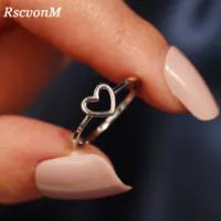 RscvonMแฟชั่นทองเงินสีรูปหัวใจงานแต่งงานแหวนผู้หญิงหญิงเครื่องประดับหมั้นเครื่องประดับDropshipping