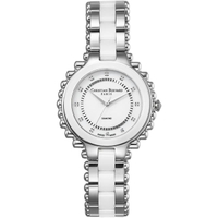 【Christian Bernard】伯納錶 Exotic Heaven 棕櫚樹鑽錶(白陶瓷 CB003BWWI-SC)