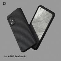 【RhinoShield 犀牛盾】ASUS Zenfone 8 / 8 Flip SolidSuit 碳纖維紋路防摔背蓋手機保護殼(原廠出貨)