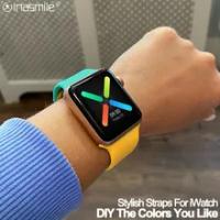 Cool DIY ซิลิโคนสำหรับ Apple นาฬิกา40มม.44มม.38มม.42มม.สำหรับ Iwatch series 3 4 5 6 SE Smart Watch สร้อยข้อมือ