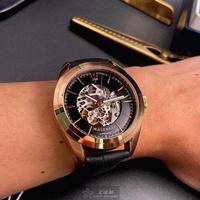 【MASERATI 瑪莎拉蒂】瑪莎拉蒂男錶型號R8821112001(黑色錶面玫瑰金錶殼深黑色真皮皮革錶帶款)
