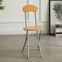 日式靠背折疊椅 家用 可折疊 便捷椅子 折合椅 折合凳 可收納椅子 工業風 簡約電腦椅折疊圓凳