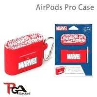 【iJacket】Marvel 漫威 Logo紅 AirPods Pro 防撞擊 矽膠保護套(總代理商公司貨)