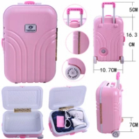 2สีเลือก,กระเป๋าเดินทาง/Piggy Bankสำหรับตุ๊กตาอเมริกัน18นิ้วอุปกรณ์เสริม & 43ซม.เด็กทารกตุ๊กตาและ41ซม...