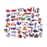 50 PCSScrapbookingกระเป๋าเดินทางแล็ปท็อปรถจักรยานยนต์แห่งชาติธงสติกเกอร์ของเล่นเด็กประเทศแผนที่ท่...