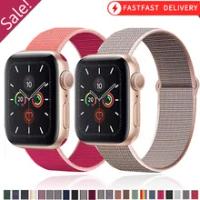 ไนลอนสำหรับ Apple Watch Band 44มม.40มม.42มม.38มม.Smartwatch สายรัดข้อมือกีฬาสร้อยข้อมือ IWatch Series 3 4 5 6