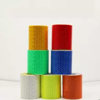 500pcs 5cmx3m Reflective Safety Warning Conspicuity Tape Marking Sticker for Industry Transport Construction Range