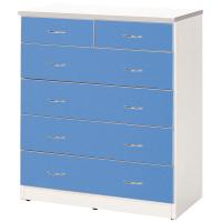 【C971-09】五層塑鋼衣櫃(藍、白色)