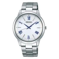 【SEIKO 精工】SPIRIT 太陽能羅馬時標時尚腕錶/銀38mm(V131-0AG0S)
