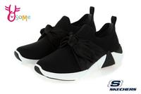Skechers A-LINE 成人女款 柔美緞面大蝴蝶結 休閒運動鞋 R8239#黑色 奧森