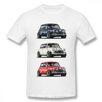 Retro The Italian Trio Mini Cooper T Shirt 流行車時髦風格 T 恤男士棉質 T