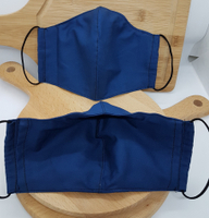 防疫商品 棉質立體口罩保護套 深寶藍色 輕鬆吃